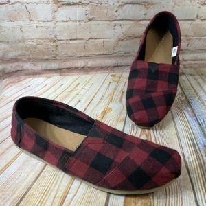 TOMS Size 14 ALPARGATA Classic Plaid Loafers Shoes